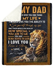 "To My Dad - Daughter Sherpa Fleece Blanket - 50"" x 60"" thumbnail"