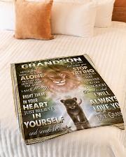 "To My Grandson - Grandpa Small Fleece Blanket - 30"" x 40"" aos-coral-fleece-blanket-30x40-lifestyle-front-01"