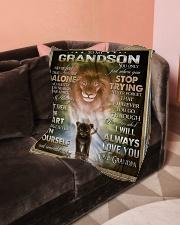 "To My Grandson - Grandpa Small Fleece Blanket - 30"" x 40"" aos-coral-fleece-blanket-30x40-lifestyle-front-05"