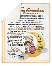 "To My Grandson Sherpa Fleece Blanket - 50"" x 60"" thumbnail"