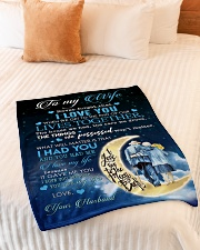"To My Wife - Husband Small Fleece Blanket - 30"" x 40"" aos-coral-fleece-blanket-30x40-lifestyle-front-01"