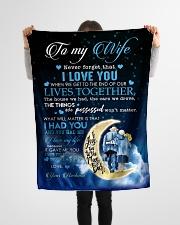 "To My Wife - Husband Small Fleece Blanket - 30"" x 40"" aos-coral-fleece-blanket-30x40-lifestyle-front-14"