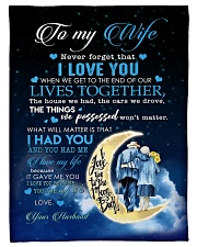 "To My Wife - Husband Small Fleece Blanket - 30"" x 40"" front"