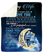 "To My Wife - Husband Sherpa Fleece Blanket - 50"" x 60"" thumbnail"