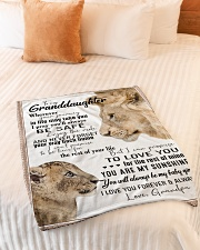 """To My Granddaughter-Grandpa Small Fleece Blanket - 30"""" x 40"""" aos-coral-fleece-blanket-30x40-lifestyle-front-01"""