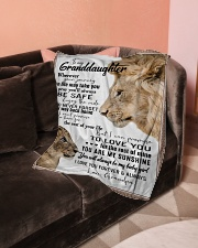 """To My Granddaughter-Grandpa Small Fleece Blanket - 30"""" x 40"""" aos-coral-fleece-blanket-30x40-lifestyle-front-05"""