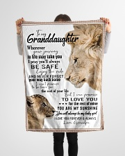 """To My Granddaughter-Grandpa Small Fleece Blanket - 30"""" x 40"""" aos-coral-fleece-blanket-30x40-lifestyle-front-14"""