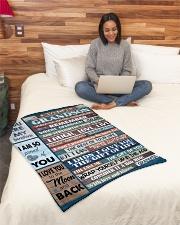 "To My Grandson - Grandma Small Fleece Blanket - 30"" x 40"" aos-coral-fleece-blanket-30x40-lifestyle-front-08"