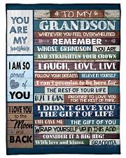 "To My Grandson - Grandma Small Fleece Blanket - 30"" x 40"" front"