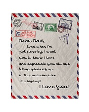 """To My Dad Quilt 40""""x50"""" - Baby front"""