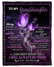 "To My Granddaughter - Grandma Small Fleece Blanket - 30"" x 40"" front"