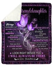 To My Granddaughter - Grandma Sherpa Fleece Blanket tile