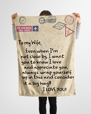 """To My Wife  Small Fleece Blanket - 30"""" x 40"""" aos-coral-fleece-blanket-30x40-lifestyle-front-14"""