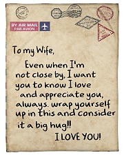"To My Wife  Small Fleece Blanket - 30"" x 40"" front"