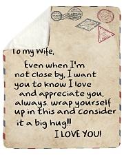 "To My Wife  Sherpa Fleece Blanket - 50"" x 60"" thumbnail"