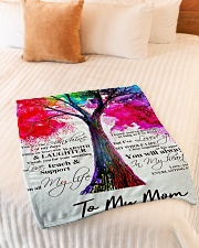 "To My Mom Small Fleece Blanket - 30"" x 40"" aos-coral-fleece-blanket-30x40-lifestyle-front-01"