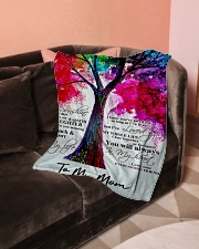 "To My Mom Small Fleece Blanket - 30"" x 40"" aos-coral-fleece-blanket-30x40-lifestyle-front-05"
