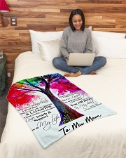 "To My Mom Small Fleece Blanket - 30"" x 40"" aos-coral-fleece-blanket-30x40-lifestyle-front-08"