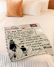 """To My Son - Mom Small Fleece Blanket - 30"""" x 40"""" aos-coral-fleece-blanket-30x40-lifestyle-front-01"""