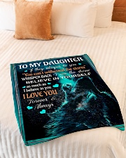 "To My Daughter - Dad Small Fleece Blanket - 30"" x 40"" aos-coral-fleece-blanket-30x40-lifestyle-front-01"