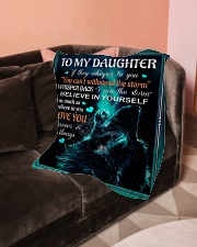 "To My Daughter - Dad Small Fleece Blanket - 30"" x 40"" aos-coral-fleece-blanket-30x40-lifestyle-front-05"