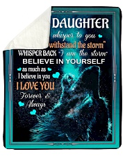 "To My Daughter - Dad Sherpa Fleece Blanket - 50"" x 60"" thumbnail"