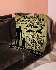 """To My Son - Dad Small Fleece Blanket - 30"""" x 40"""" aos-coral-fleece-blanket-30x40-lifestyle-front-05"""