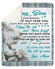 "To My Son - Mom Sherpa Fleece Blanket - 50"" x 60"" thumbnail"