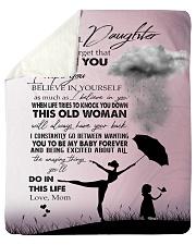 "To My Daughter - Mom Sherpa Fleece Blanket - 50"" x 60"" thumbnail"