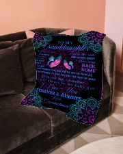 "To My Granddaughter-Grandma Small Fleece Blanket - 30"" x 40"" aos-coral-fleece-blanket-30x40-lifestyle-front-05"