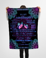 "To My Granddaughter-Grandma Small Fleece Blanket - 30"" x 40"" aos-coral-fleece-blanket-30x40-lifestyle-front-14"