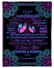 "To My Granddaughter-Grandma Small Fleece Blanket - 30"" x 40"" front"