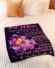 "Blanket To My Mom Small Fleece Blanket - 30"" x 40"" aos-coral-fleece-blanket-30x40-lifestyle-front-01"