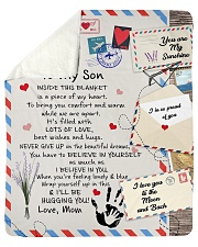 "To My Son- Mom Sherpa Fleece Blanket - 50"" x 60"" thumbnail"