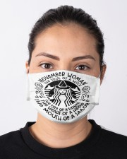 November Woman Cloth face mask aos-face-mask-lifestyle-01