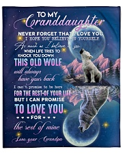 "To my Granddaughter Small Fleece Blanket - 30"" x 40"" thumbnail"