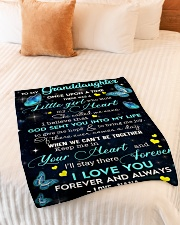 """To My Granddaughter Small Fleece Blanket - 30"""" x 40"""" aos-coral-fleece-blanket-30x40-lifestyle-front-01"""