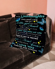 """To My Granddaughter Small Fleece Blanket - 30"""" x 40"""" aos-coral-fleece-blanket-30x40-lifestyle-front-05"""