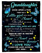 """To My Granddaughter Small Fleece Blanket - 30"""" x 40"""" front"""