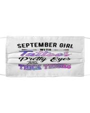 September Girl Cloth face mask front