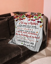 """To My Mother - Son Small Fleece Blanket - 30"""" x 40"""" aos-coral-fleece-blanket-30x40-lifestyle-front-05"""