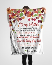 """To My Mother - Son Small Fleece Blanket - 30"""" x 40"""" aos-coral-fleece-blanket-30x40-lifestyle-front-14"""