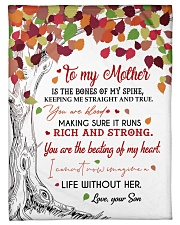 """To My Mother - Son Small Fleece Blanket - 30"""" x 40"""" front"""