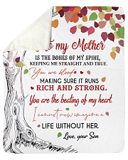 """To My Mother - Son Sherpa Fleece Blanket - 50"""" x 60"""" thumbnail"""