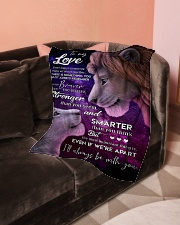 "To My Love Small Fleece Blanket - 30"" x 40"" aos-coral-fleece-blanket-30x40-lifestyle-front-05"