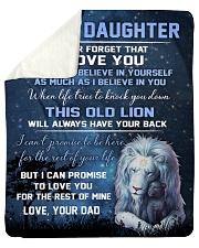 To My Daughter - Dad Sherpa Fleece Blanket tile