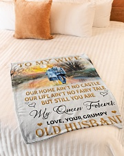 "To My Wife - Husband Small Fleece Blanket - 30"" x 40"" aos-coral-fleece-blanket-30x40-lifestyle-front-01"