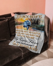 "To My Wife - Husband Small Fleece Blanket - 30"" x 40"" aos-coral-fleece-blanket-30x40-lifestyle-front-05"