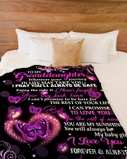 "To My Granddaughter -  Grandpa Large Fleece Blanket - 60"" x 80"" aos-coral-fleece-blanket-60x80-lifestyle-front-02"