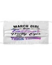March Girl Cloth face mask front